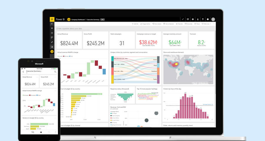 build custom report with power bi